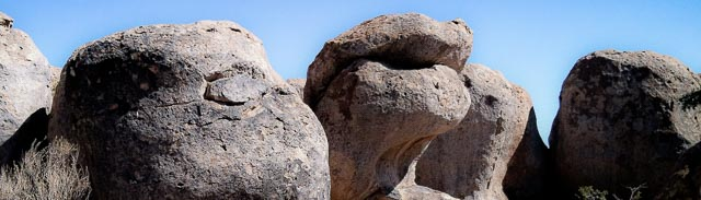 Rock formation showing pareidolia, City of Rocks State Park, Faywood NM, March 2, 2012